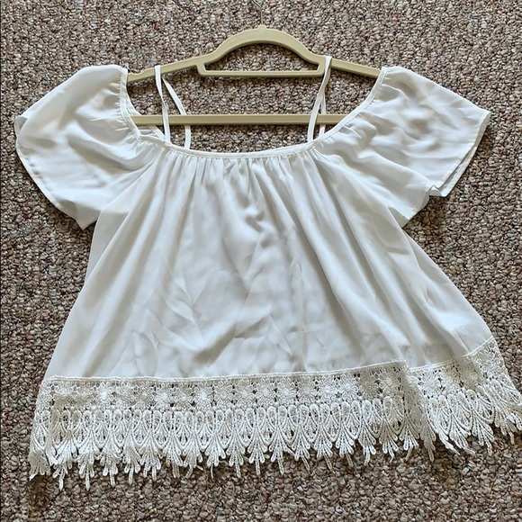 Urban Outfitters Tops - White Off Shoulder or Bell Sleeve Top